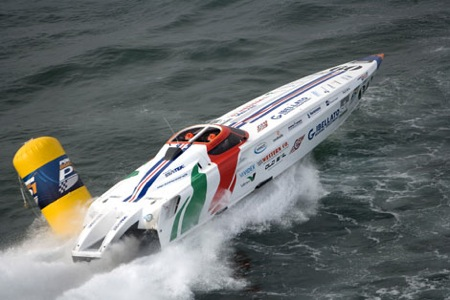 Alicante, powerboats.